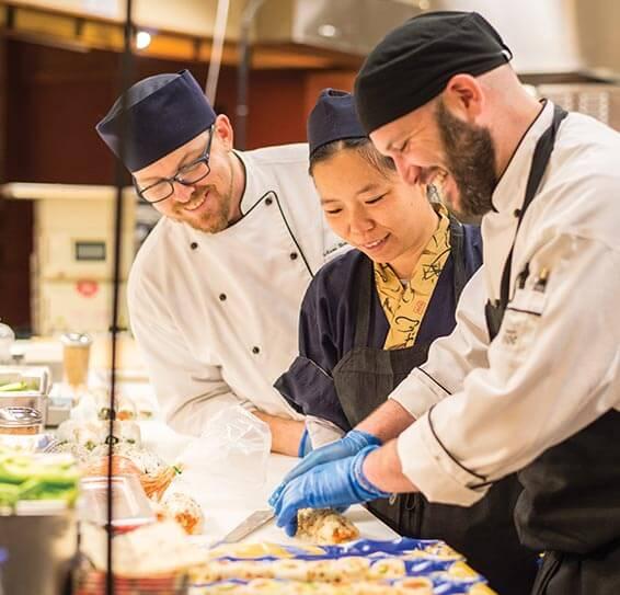 Wegmans chefs preparing sushi