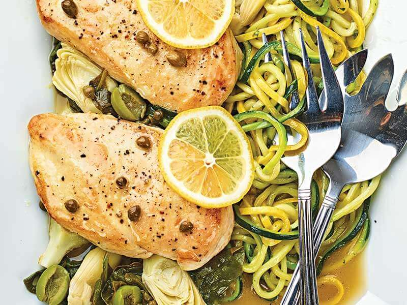 chicken with lemon and vegetables