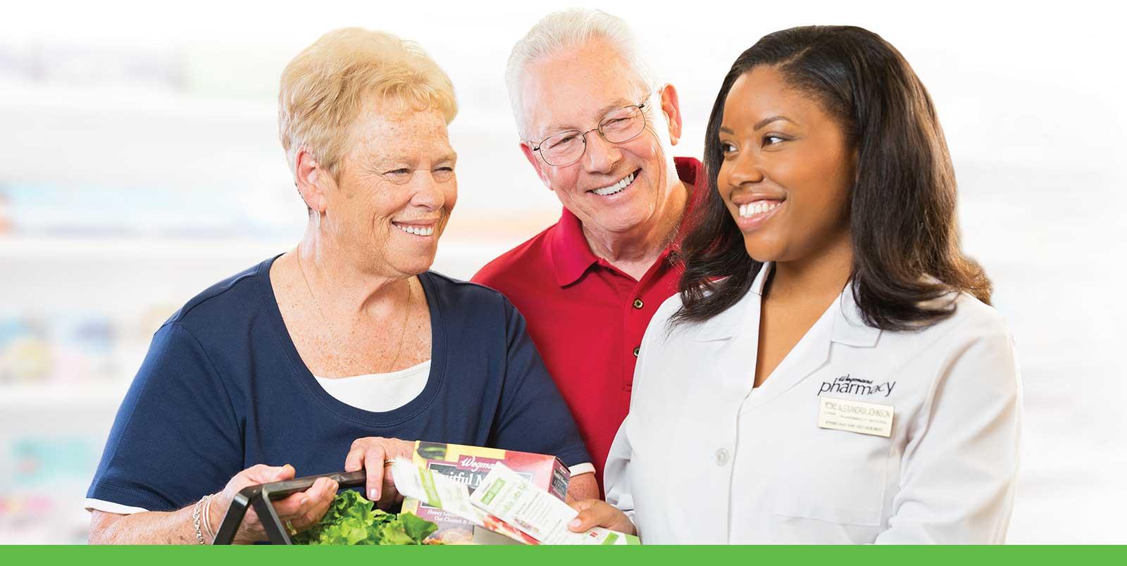 wegmans pharmacist with customers