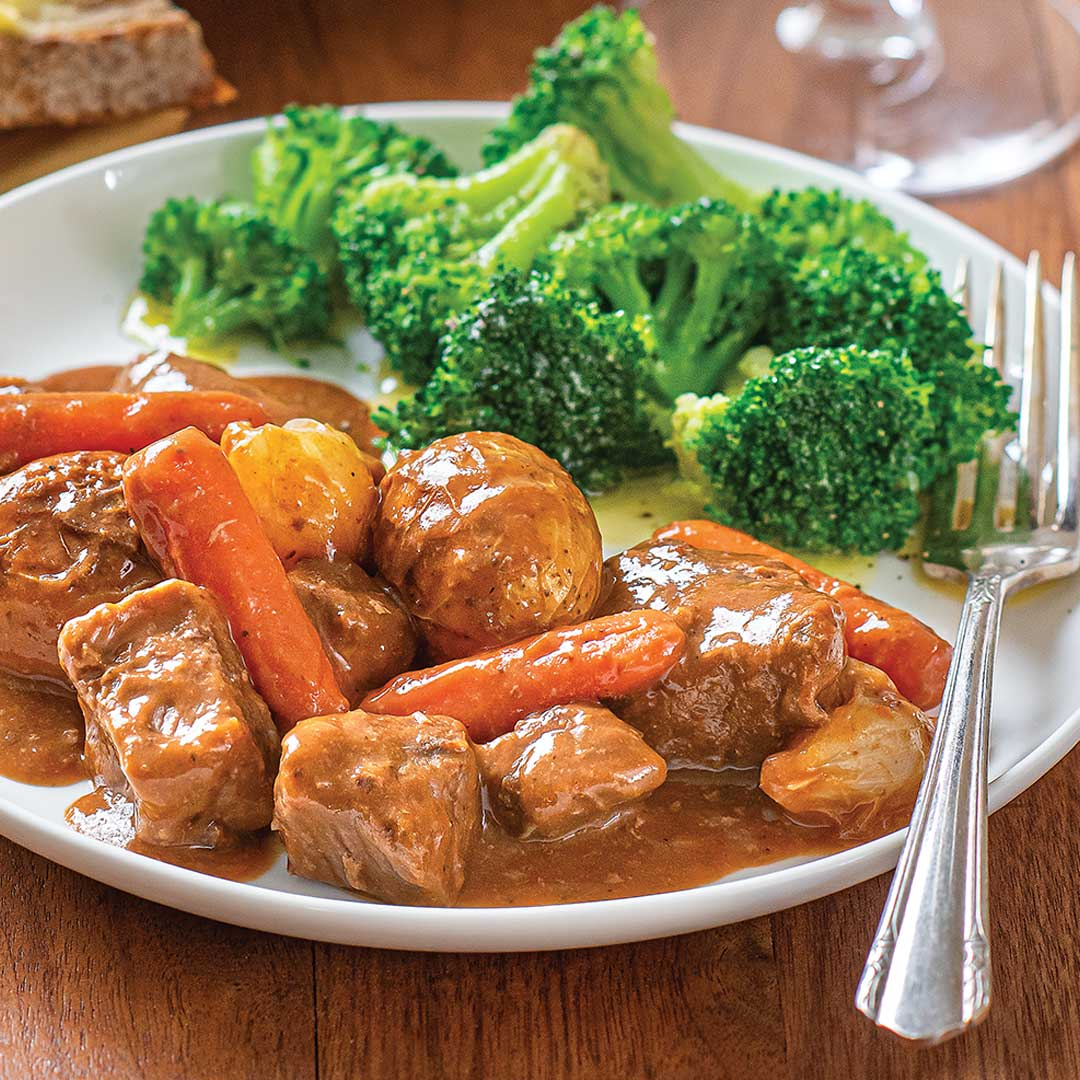 Braised Beef with Vegetables Meal