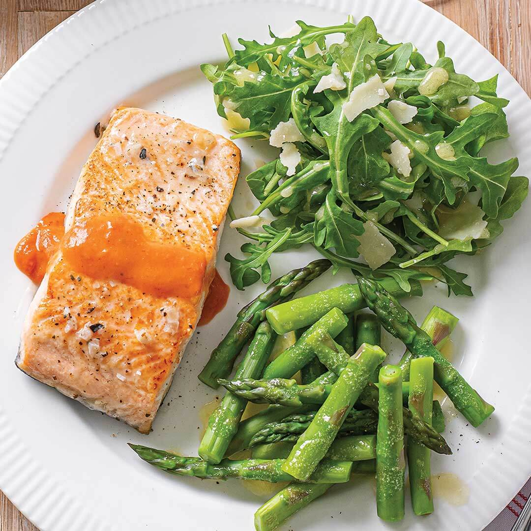 Salmon with Vodka Blush Sauce Meal