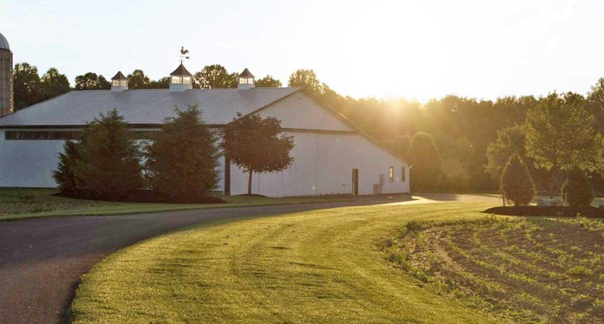 farm at sunrise