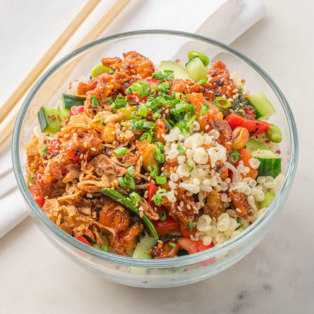 EZ Meal Kung Pao Chicken Poke Bowl