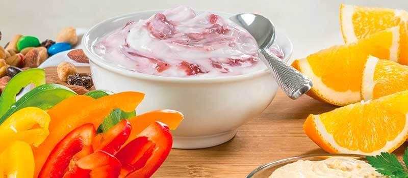 yogurt fruit and vegetables