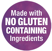 Made with NO GLUTEN CONTAINING Ingredients