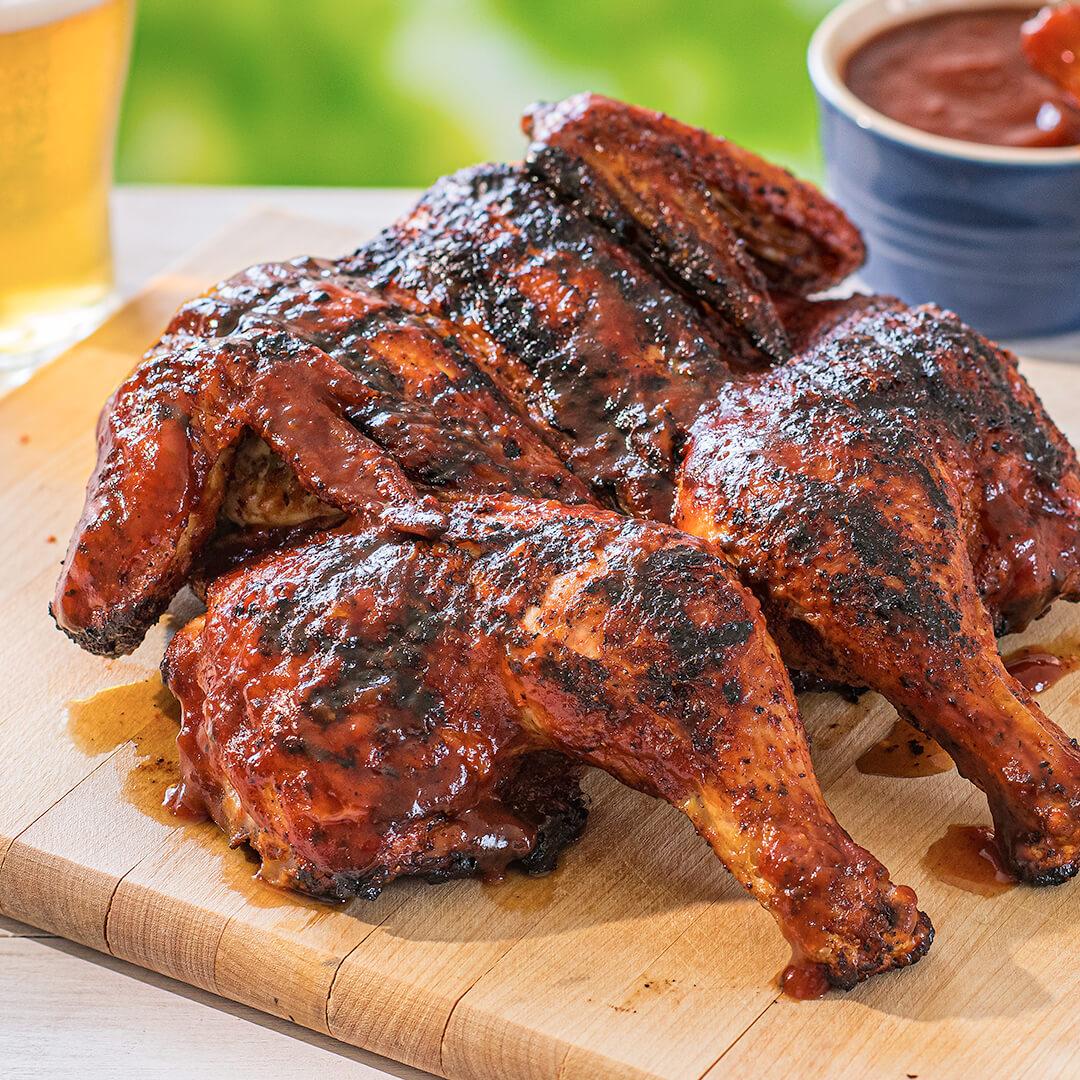 Grilled Spatchcock BBQ Chicken