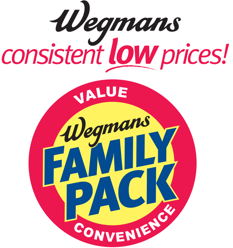 Wegmans Consistent Low Prices and Family Pack value